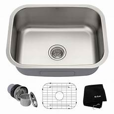 kitchen sink faucets lowes shop kraus kitchen sink 17 5 in x 23 in stainless steel single basin undermount residential