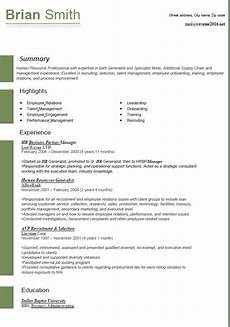 hr resume latest format resume format 2016 12 free to download word templates