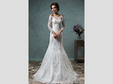 2016 Long Sleeve Lace Wedding Dresses For Muslim Amelia