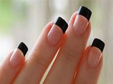 70 very stylish black french tip nail art design ideas