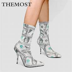dollar pattern printed s ankle boots autumn and