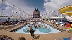 mickey pool view all ship horns disney cruise line fantasy oct 2014 youtube
