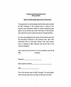 17 basic confidentiality agreement templates free sle exle format download free