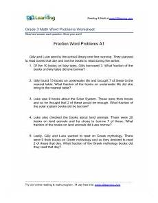 3rd grade math worksheets fractions word problems printable k5 learning