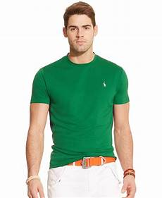 polo ralph performance jersey crewneck t shirt in