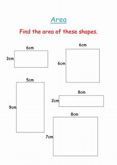 area of squares and rectangles worksheet teaching resources
