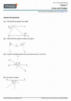 geometry worksheets pdf grade 7 859 year 7 math worksheets and problems lines and angles edugain australia