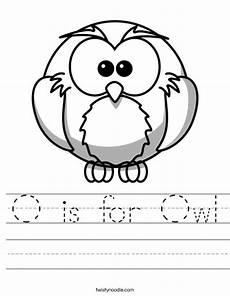 o is for owl worksheet twisty noodle