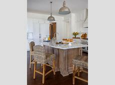 Curved Kitchen Island Countertop with Wicker Counter