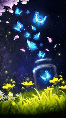 cool phone live wallpapers android live wallpaper background shiny blue butterfly