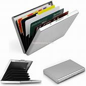 New Thin Aluminum Metal Credit Card RFID Protector Wallet