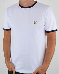 lyle and ringer t shirt white crew neck mens