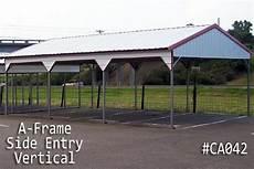 a frame vertical carports