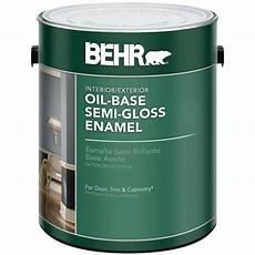 behr 1 gal white semi gloss oil based interior exterior
