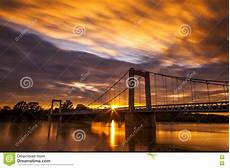 Bridge In Stock Image Image Of Sunset Time