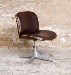 Fauteuil De Bureau Vintage Ico Parisi Mim Pivotant