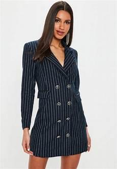 robe blazer bleu marine 224 rayures missguided