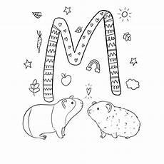 Meerschweinchen Ausmalbilder Malvorlagen Ausmalbild M Wie Verliebte Meerschweinchen