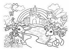 Malvorlage Regenbogen Einhorn Malvorlage Pferd Regenbogen X13 Ein Bild Zeichnen