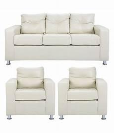 pallazio 5 seater sofa set 3 1 1 in white buy pallazio
