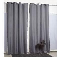 rideaux gris rideau 224 oeillets thermique gris fonc 233 rideau occultant
