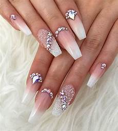23 glitzy nails with diamonds we can t stop looking at