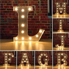 metal wall light letters vintage metal led light diy letter a to m sign carnival