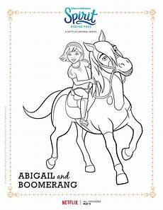 spirit free abigail and boomerang coloring page