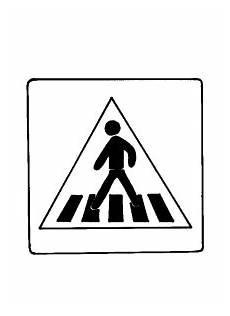 verkehrszeichen zebrastreifen ausmalbild malvorlage