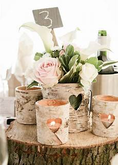 mariage chetre decoration 20 rustic wedding centerpieces with bark container deer