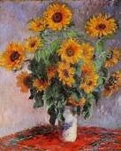 Bouquet Of Sunflowers Claude Monet Impressionism Flowers
