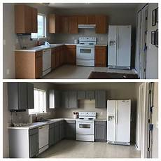 behr anonymous paint cabinets grey kitchen before and after for the home in 2019 kitchen