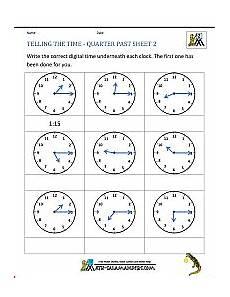 telling time worksheets grade 4 printable 3382 clock worksheet quarter past and quarter to