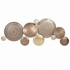 Wanddeko Aus Goldfarbenem Metall 37x89 Circles Maisons