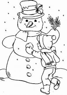 Ausmalbilder Weihnachten Winter Ausmalbilder Zu Weihnachten Macht Grossen Schneemann
