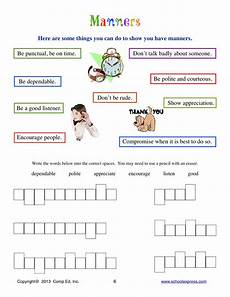 manners worksheet yahoo yahoo image manners worksheets good