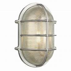large ip64 outdoor bulkhead wall light in nickel with