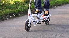 space scooter ein roller im h 228 rtetest