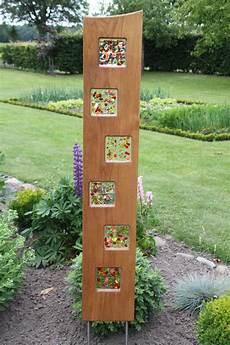 Garten Stelen Metall - gartenkunst aus glas diy durchblick glasgestaltung