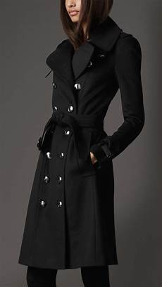 lyst burberry wool and blend trench coat