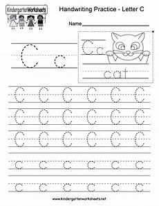 letter c writing practice worksheet free kindergarten worksheet for