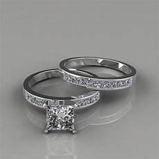 princess cut moissanite bridal rings forever moissanite