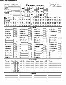 old school runequest using the call of cthulhu 7th edition quickstat rules for inspiration