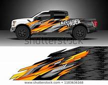 Find Pick Up Truck Decal Wrap Design Vector Graphic