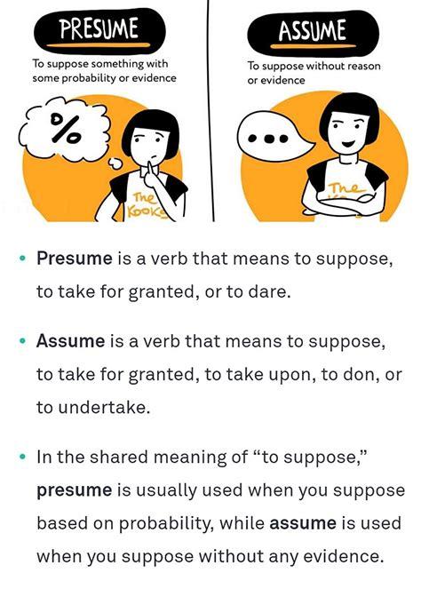 Presumption Vs Assumption