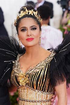 salma hayek at 2019 met gala in nyc celebzz