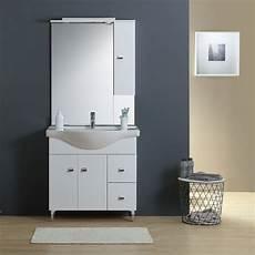 meuble lavabo salle de bains 86 cm miroir armoire couleur