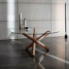 table en verre ronde table en verre design ronde aikido sovet 174 4 pieds