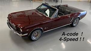 1965 Mustang A Code Convertible 4 Speed • MyRodcom For Sale