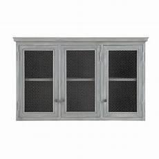 meubles haut de cuisine 96302 meuble haut de cuisine en bois d acacia gris l 120 cm kitchen wall cabinets kitchen wall